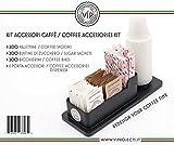 KIT Behälter Organizer Zubehör Kaffee 200: Kaffeebecher, Zuckersticks, Rührstäbchen plastik + Behälter