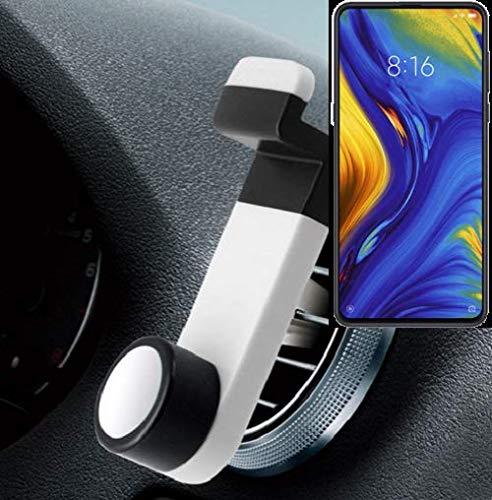 K-S-Trade® Smartphone Universal Holder Holder/Car Montaje/Parabrisas para El Xiaomi Mi Mix 3 5G. Blanco. Titular De Teléfono De La Rejilla De Ventilación Se Puede Utilizar con Los Teléfonos