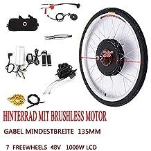 Radsport 26 48V Vorderrad Motor Fahrrad Nabe 1000W Elektro E-Bike Conversion Kit Z/