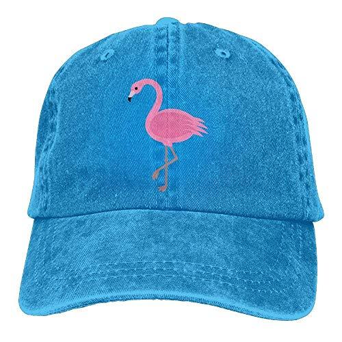 Wdskbg Flamingo-Rosa-Weinlese-Denim-Baseballmütze-justierbarer Vati-Hut Unisex Fashion23
