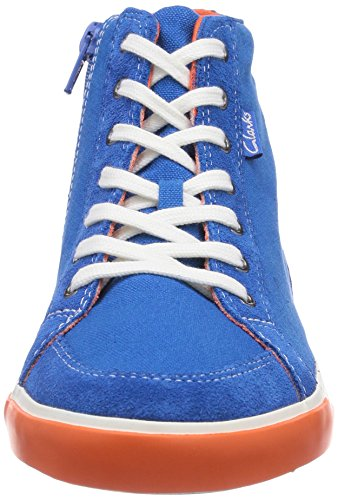 Clarks Club Pop Jnr, Baskets hautes garçon Bleu - Blau (Blue Combi)