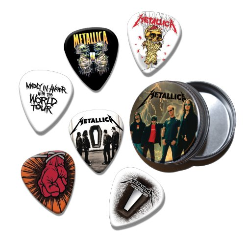 Metallica Set of 6 Loose Chitarra Picks Plettri in Tin ( Collection E )