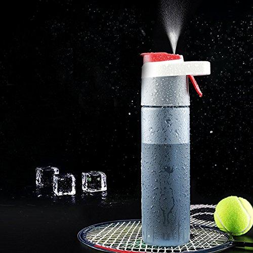 xiduobao Spray Wasser Flasche Mist Kühlung Outdoor Sports Trinkflaschen Tragbare BPA-frei Wasser Flasche Trinken Flaschen, BPA-frei, (600ml (Klauenhammer/Latthammer))