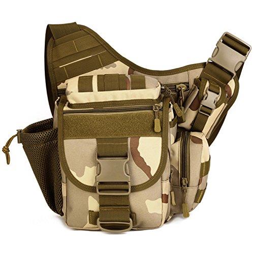 Protector Plus Satteltasche SLR Kameratasche im Freien Fotografie Tasche Schulter Messenger große Satteltasche, Multi-Use-Paket three camouflage