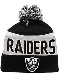 NFL Oakland Raiders - Bonnet Tricot à Pompon