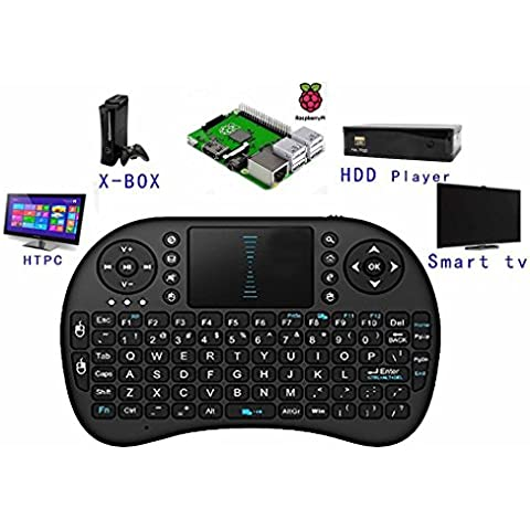 Eastchina® | color negro 2.4 GHz Mini Touchpad teclado Bluetooth Wirelesss con Multi Touch Panel táctil, trabajo para PC, Pad, Xbox 360, PS3, Google Android Smart TV Box, HTPC, IPTV