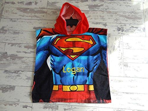 Personalizzato bambini superman poncho–perfetto per nuotare spiaggia etc–asciugamano