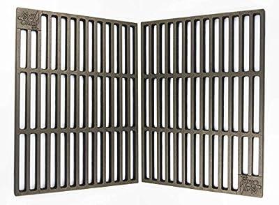 2 massive Gusseisen Grillroste 41,5 x 27,5 cm Grillclub nur 12 mm Stababstand ! u.a. passend für Tepro Toronto, Black Oak, Butternut