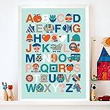 byGraziela Kinderzimmer Poster: ABC blau 50x70cm