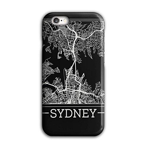 Australien Sydney Karte Groß Stadt iPhone 6 / 6S Hülle | (Kostüme Perücken Australien)