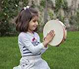 New Classic Toys - 2042904 - Percussion - Tambourin En Bois Et Peau Grande