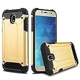 J&D Compatible pour Coque Galaxy J7 2017, [ArmorBox] [Double Couche] Coque de Protection Robuste Antichoc et Hybride pour Samsung Galaxy J7 2017 - [pas pour Galaxy J7 2016] - Or