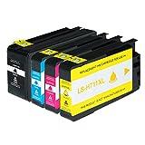 Logic-Seek Tintenpatronen kompatibel für HP 711 CZ129A-CZ132A, 4-er Pack