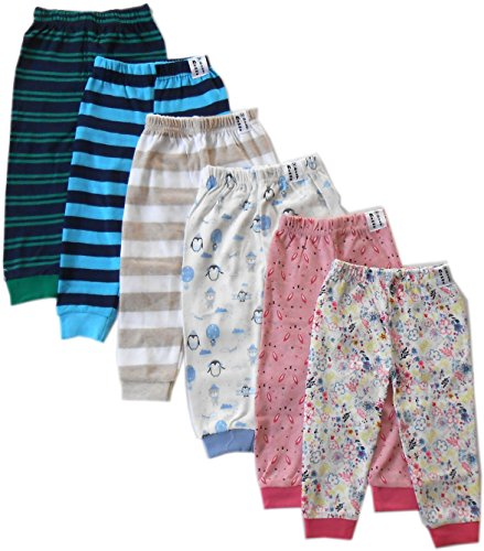 NammaBaby Baby Pajama Pant With Rib MIXED PRINTS - SET OF 6 (6-9 months)