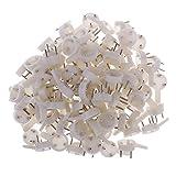 Sharplace 100er Set Kunststoff Hartwand Bilderrahmen Nagel Haken Aufhänger Haken Wandbild Bildaufhänger Bilderhaken für hängende Gemälde Hochzeitsfotos Kleiderbügel