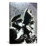 "Toile Champ Banksy murale peintures, 3. Batman and The Police by Banksy, 12"" x 8"""