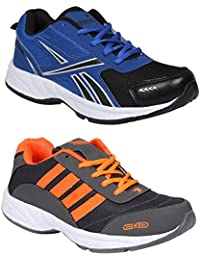 Redon Men's Pack Of 2 Sports Running Shoes (Running Shoes, Jogging Shoes, Gym Shoes, Walking Shoes) - B074HJ1ZHG