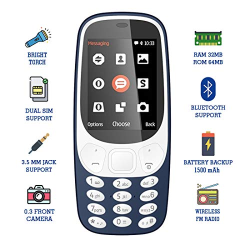 I Kall K36 2.4 Inch Display Multimedia Mobile with 15 Months Manufacture Warranty (Dark Blue)