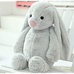 Qsoleil - 1 juguete largo para conejo, conejo, peluche, conejo, juguete gris