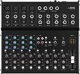 IMG Stageline MMX-44  8-Kanal-Audio-Mischpult mit 12 Eingängen, schwarz