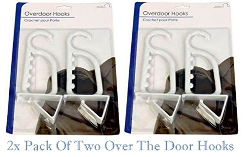 2x-pack-of-two-over-the-door-hooks-plastic-material-white-hangers-ironing-cloth