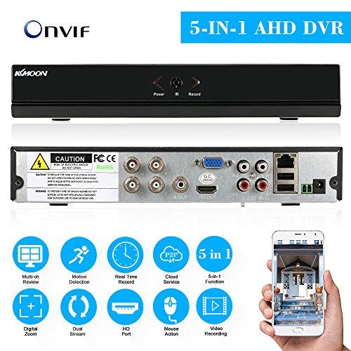 KKmoon DVR 4CH Kanal 1080P CCTV Hybrid NVR AHD TVI CVI DVR 5-in-1 P2P Cloud Netzwerk Onvif
