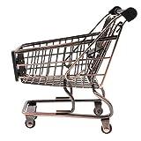 D DOLITY Miniatur Einkaufswagen Gitterwagen Spielzeug für Kinder Supermarkt Rollenspiel - Bronze, # A
