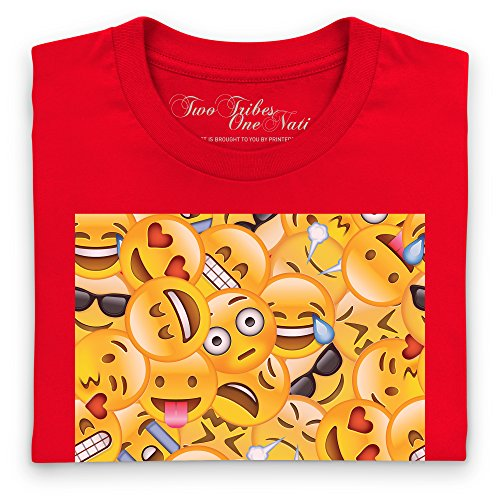 Official Two Tribes Emoji - Big Faces T-Shirt, Herren Rot