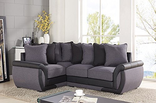 corner-sofa-suites-settee-gray-charcoal-fabric-3-2-seater-armchair-leather