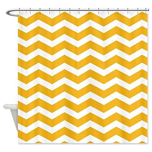 Senf-Gelb Chevron viele schöne Duschvorhänge zur Auswahl, hochwertige Qualität, Wasserdicht, Anti-Schimmel-Effekt 180 x 200 cm (Halloween Schwarze Katze Silhouette Muster)