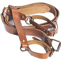 Battle Merchant Espada Cinturón–Porta espadas para cinturón de piel plana Medieval Espada
