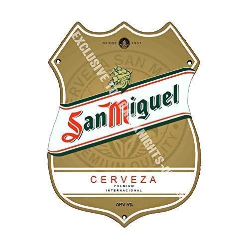 arger. Bier Werbung bar Pub Getränk Pumpe Abzeichen Brewery Cask Keg Draught Real Ale Pint Alkohol Hopfen Form Metall Wand Schild - 27 x 20 cm ()