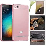 DMG Ultra Luxury Air Aluminum Metal Bumper Detachable + Mirror Hard Back Case for Xiaomi Mi4i (Rose)