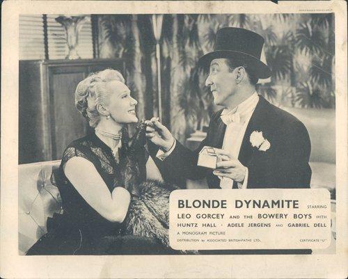 biondo-dinamite-lobby-card-originale-leo-gorcey-adele-jergens-cigarette-scena
