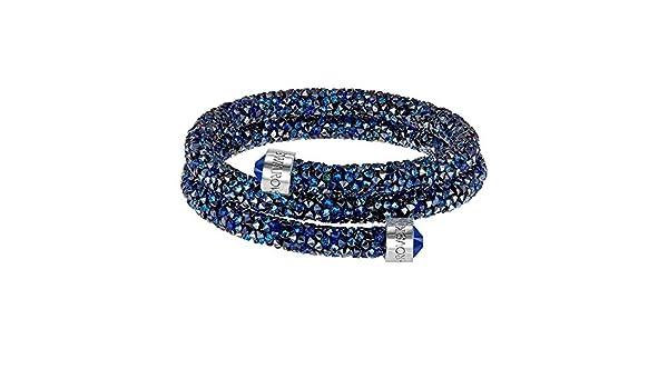 d83f10fd67ad7f Swarovski Crystaldust braccialetto doppio, blu, piccolo 5255903: Amazon.it:  Gioielli