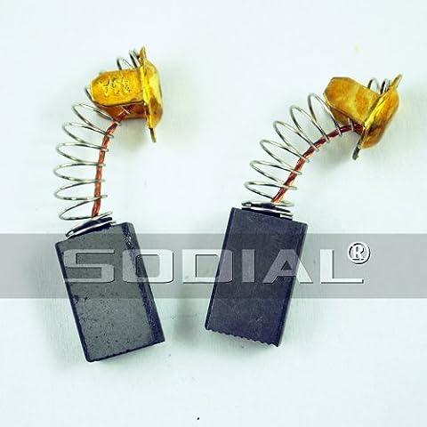 SODIAL(R) 2 x balai de charbon pour moteur ¨¦lectrique 7mm x 11mm x 18mm