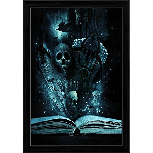 Pitaara Box Halloween Stories Canvas Painting Black Frame 16 X 23.5Inch