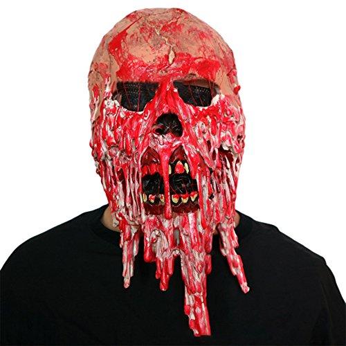 Chakil 1 Stück Gruselige Maske Halloween Cosplay Horror Maske für Halloween Kostüm Party Gefälligkeiten