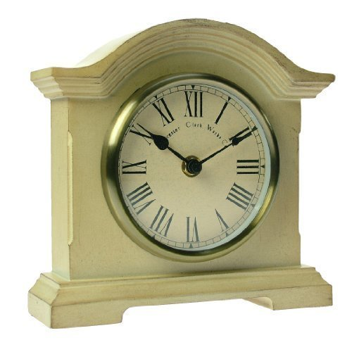 Towcester Clock Works Co. Acctim 33282 Falkenburg Kaminuhr, Cremefarben