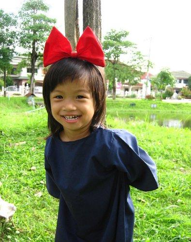 Kiki 's) Service Cosplay Kid Kleid mit Rot Haar (Jiji Kostüm Kiki Und)