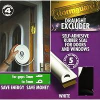 Lowenergysupermarket - Burlete aislante para puertas y ventanas (caucho EPDM, espuma, perfil en P)
