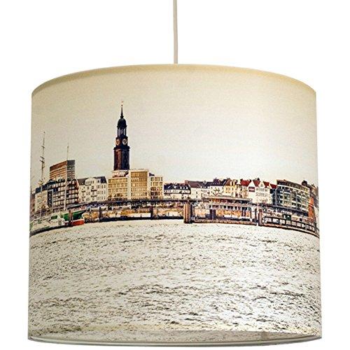 Schirm Fr Lampen Mit Hamburg Motiv In Warmen Farben Sanftes Licht Tischleuchte Stehlampe Hngelampe Im Wohnzimmer Esszimmer Schlafzimmer