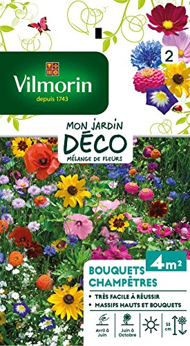 Vilmorin 5859542 Pack de Graines Fleur pour Bouquets Champêtres