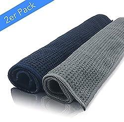 EliXito ® Mikrofaser Trockentücher - Premium Mikrofasertücher für Haushalt, Auto und Fenster - Extrem saugstark und schonend weich - Fusselfreie Putztücher / Putzlappen (40x40cm) - 2er Set