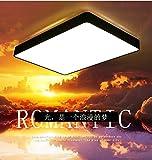 YI.LAN.YI LIGHT LED di geometria di illuminazione a soffitto semplice Creative moderno Soggiorno Studio Camera da letto camera da letto lampade bordo nero n. di poli con telecomando, Parco: Diametro 23cm12W,