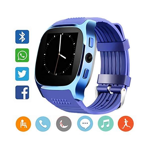 CanMixs Smartwatch CF02 es compatible con la tarjeta SIM Reloj de pulsera TF con cámara Podómetro Sleep Monitor Message… 1