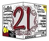 Endlich 21 - Eine tolle Geschenkidee zum 21. Geburtstag und ein witziges Geschenk für Männer und Frauen!
