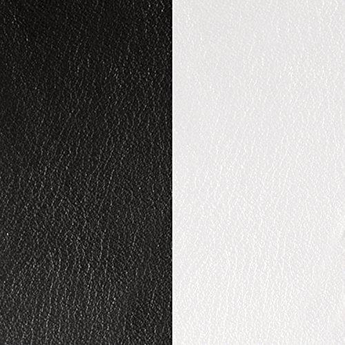 Die Georgettes Leder Halskette Rund Schwarz/Weiß 25mm (Georgette Weiße)