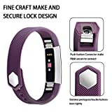 #7: Iloft® Fitbit Alta Strap and Alta HR Strap, Adjustable Replacement Sport Strap Bands for Fitbit Alta and Alta HR Smartwatch Fitness Wristband - Large (Purple)