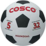 Cosco Mundial Football - Size: 5 (Black,...